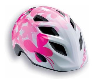Capacete Bike Met Infantil Elfo Pink Butterflies 46-53