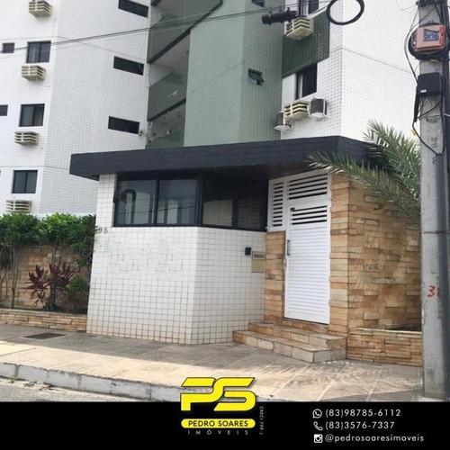Apartamento Com 3 Dormitórios À Venda, 90 M² Por R$ 300.000 - Jardim Cidade Universitária - João Pessoa/pb - Ap4143