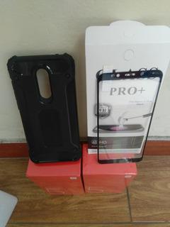 Vidrio Templado Mas Case Xiaomi Redmi 5 Plus