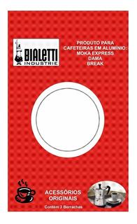 Borrachas Cafeteira Italiana 3 Xícaras Cj 3 Peças Bialetti