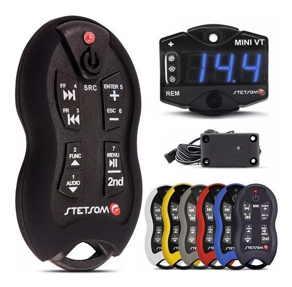 Controle Longa Distância Sx2 Stetsom + Voltímetro Vt Mini