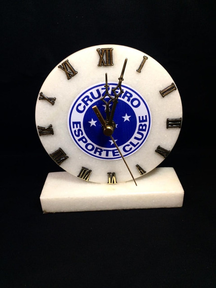 Relógio De Pedra Do Cruzeiro Rasposa De Mármore Branco!