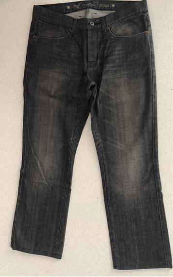 Jeans Etiqueta Negra Talle 36 Negro Recto