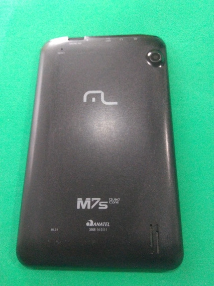 Tampa Traseira Tablet Multilaser M7 S Preta Retirada