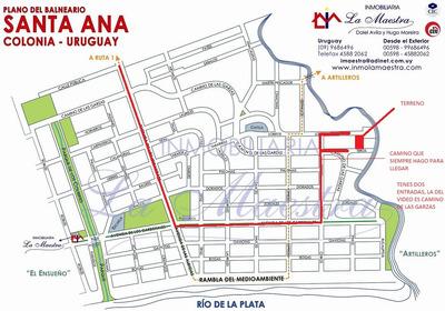 Santa Ana A Metros Del Arroyo Y 6 De La Playa Tomo Vehículo