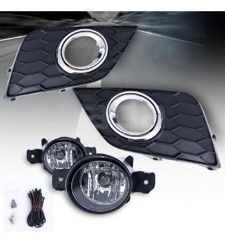 Neblineros Kit Completo Nissan Sentra 2016 - 2019 Cromado
