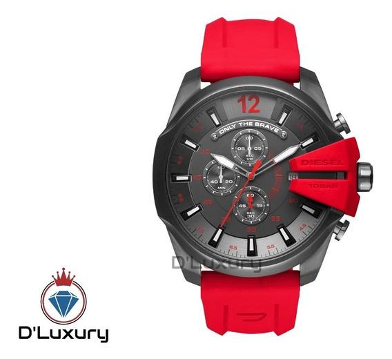 Relógio Diesel 10 Bar Dz4427 Vermelho Original Encomenda