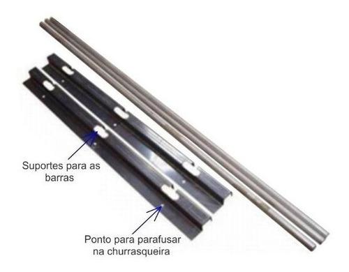 Imagem 1 de 5 de Suporte Em Inox Para Churrasqueira E 4 Barras De 75cm