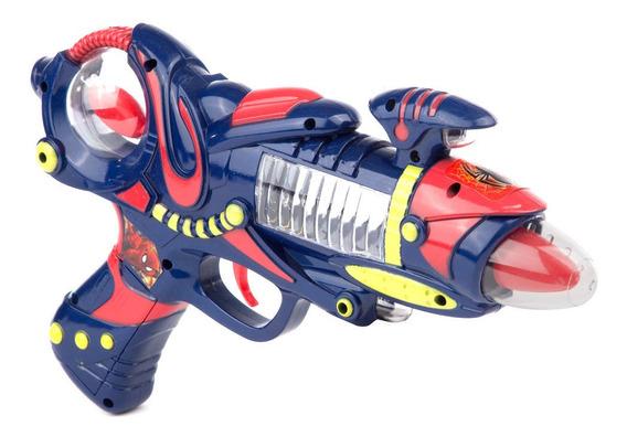 Spiderman Pistola Turbo Con Luz Y Sonido Ditoys