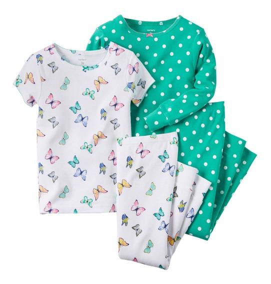 Pijama Carters 4 Piezas Algodón