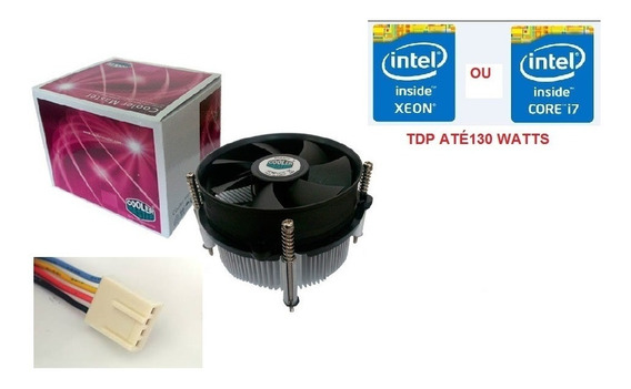 Air Cooler Cpu Intel Socket Lga 2011/2011-v3/i7/xeon Tdp 130