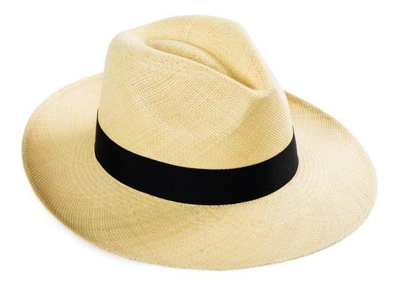 Sombrero Panama Original - Gorro De Paja, Genuino De Ecuador