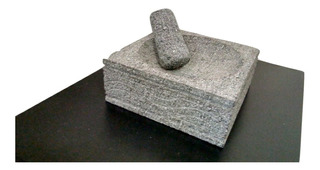 Molcajete Piedra Volcanica Artesania De Colima, Mediano