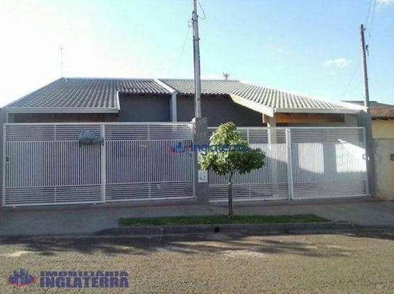Casa Residencial Com 2 Dormitórios À Venda, 70 M² Por R$ 165.000 - Jardim Kobayashi - Londrina/pr - Ca0475