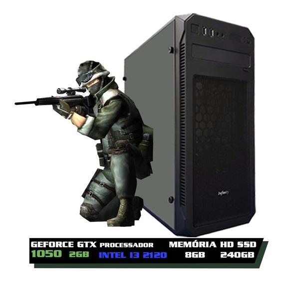Pc Cpu Gamer Core I3 2120 + 8gb + Ssd 240gb + Gtx 1050 2gb + Nfe