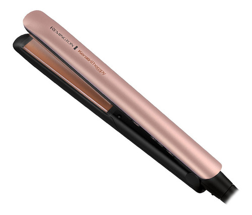 Imagen 1 de 5 de Planchita de pelo Remington Keratin Therapy S8599 negra y rosa 120V/240V