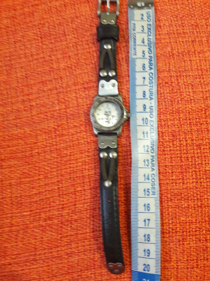Mini Relógio Antigo Yankee Mostrador Desenho Caveira Raro