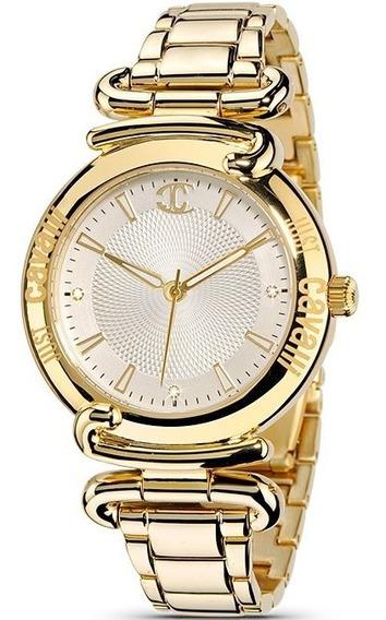 Relógio Feminino Dourado Original Just Cavalli Ouro 18k Pequ