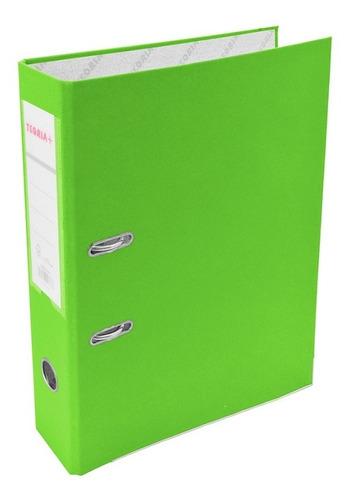 Bibliorato Oficio Ancho Verde Manzana Teoria+