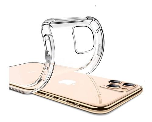 Forro Silicon Transparente + Vidrio Templado iPhone 11 Pro