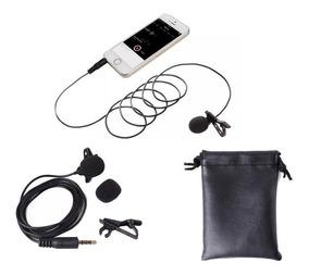 Microfone De Lapela Para Gravar Celular iPhone Youtuber + Nf