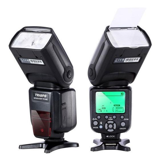 Flash Speedlite Triopo Nikon Universal Ou Ettl Canon Tr-988