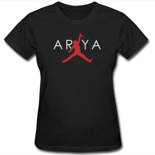 Consulado Ahuyentar Denso  Camiseta Arya Stark Air-jordan Juego De Tronos S | Mercado Libre