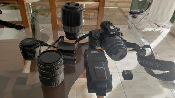 Camera Fotográfica Mirroerless Sony Alpha A37 + Kit Completo