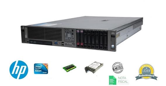 Servidor Hp Dl380 G5 - Intel Xeon Quad Core, 4gb Ram, Suporta Sata Sas Ssd, 2 Portas Rede Gigabit, Com Garantia