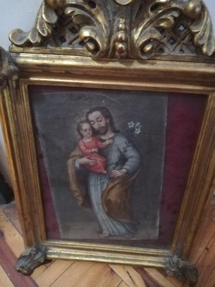 Pintura De San Jose Con Cuadro Antiguos
