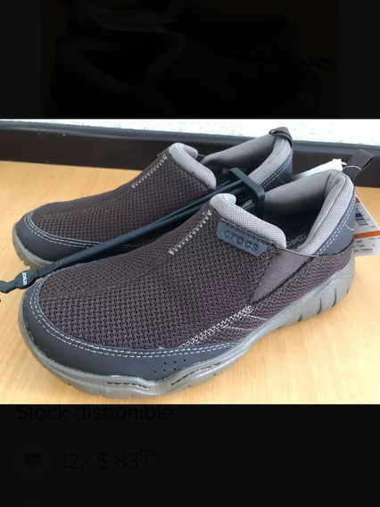 Zapatos Crocs Para Caballero Talla 25 M7 En Caja Nuevos Cafe