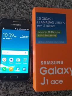 Celular Samsung Galaxy J1 Ace Para Movistar Con Caja Y Carga