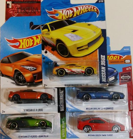 Hot Wheels Lote 5 Nissan 350z 2011 R32 R35 300zx