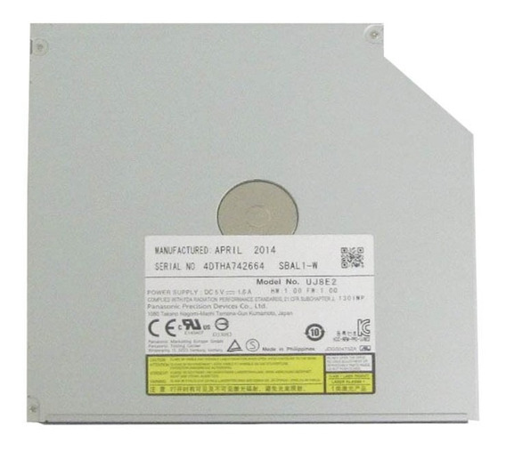 Leitor De Dvd Sata Panasonic Slim Modelo Uj8e2