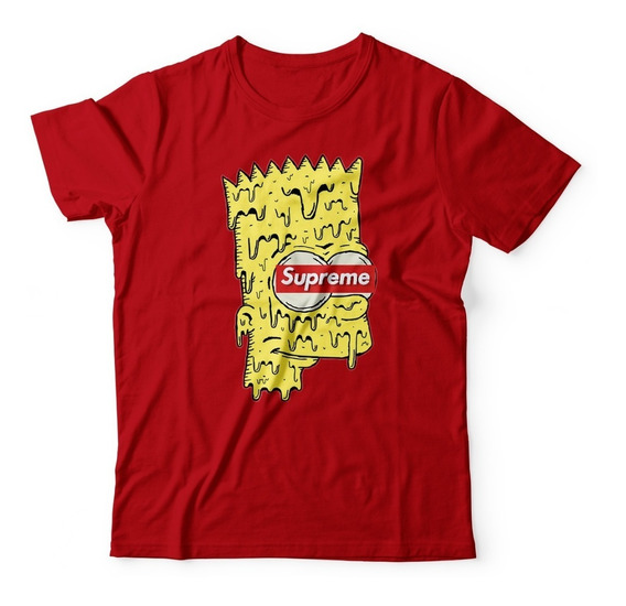 Camisa Camiseta Masculina Supreme Bart Os Simpson Hype Top