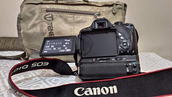 Camera Canon T4i + (lente 18-135mm + Ef-s 55-250mm)+ Acesso