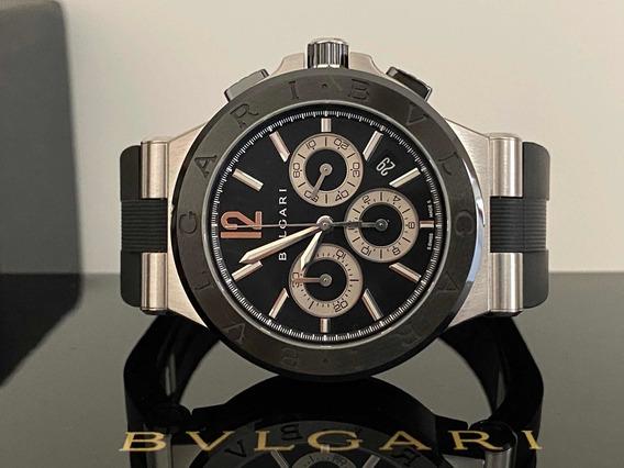 Relógio Bvlgari Diagono 42mm Cerâmica Aço Completo