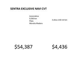Nissan Sentra Sentra Exclusive Navi Cvt 2018 Seminuevos