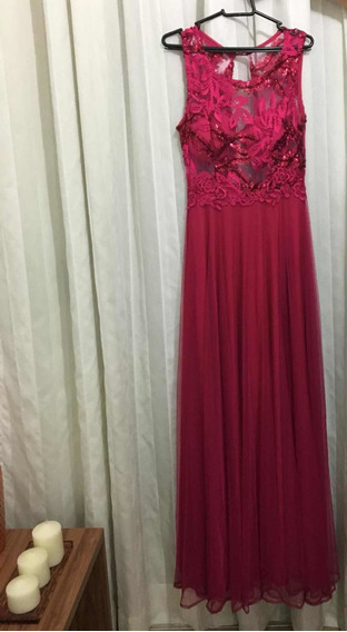 Vestido Festa Galã Formatura Casamento Pink Tam 38 Mede 1,75
