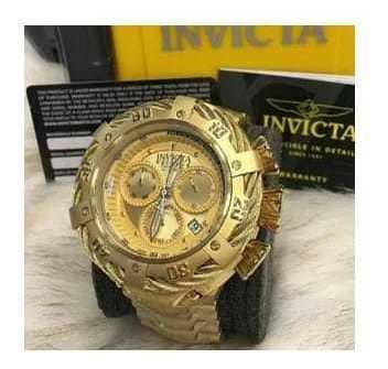Relógio Invicta Thunderbolt - Robusto- Banhado Em Ouro 18k