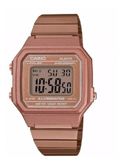 Relógio Casio Feminino Vintage B650wc 5adf Rose Digital Off