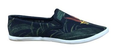 Osklen - Tênis Vidigal Slip On Heliconia Black Forn:55592