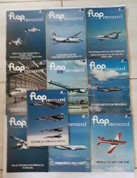 Flap Internacional 09 Revista Aviação Aviões Raro Antigo - J