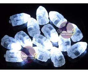 10 Capsula Blanca Led P/ Globo Deco Farol Cotillon Luminoso