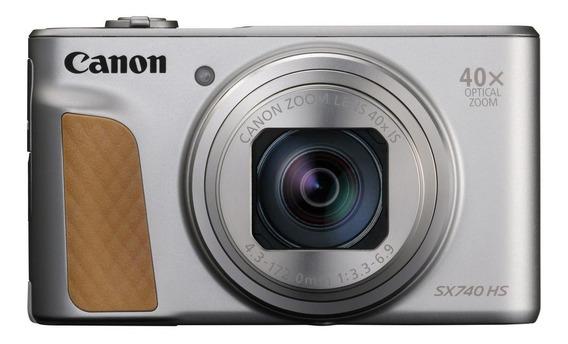 Canon PowerShot SX740 HS compacta avançada cor prateado