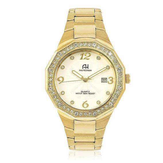 Relógio Feminino Ana Hickmann Ah20033h Dourado