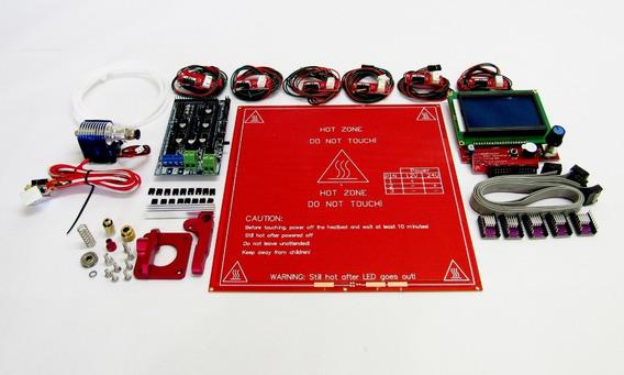 Kit Eletrônica Sem Arduíno Ramps 1.6 + Extrusora + Hot End
