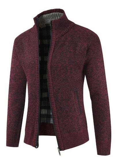 Suéter Tipo Cárdigan De Punto Delgado Para Hombre