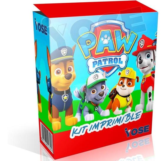 Kit Imprimible Paw Patrol + Candy Bar + Envío Instantáneo