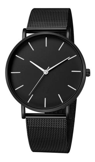 Reloj Manecillas Acero Delgado